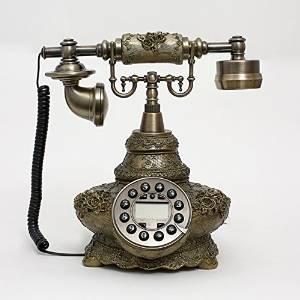JQYD Pierre villa rural telephone landline European antique telephones vintage antique telephones Gifts , A