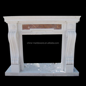 Decoration marble carving open fire place
