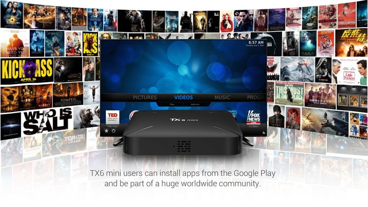 Topleo Factory price commercial TX6 mini Allwinner H6 OTA auto update  android 9.0 tv box 2GB 16GB