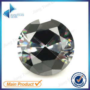 Mixed colored white and black zircon stone