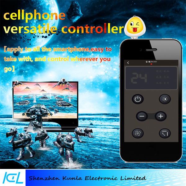 Universal remote control For TV/STB/SLR/Air Conditioning,Android or IOS Smartphone Remote controller
