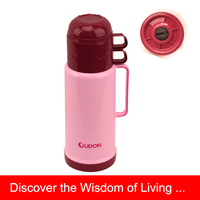 Plastic 1.2L hot water flask for daily use, Red Color, 2012 NEW PP body