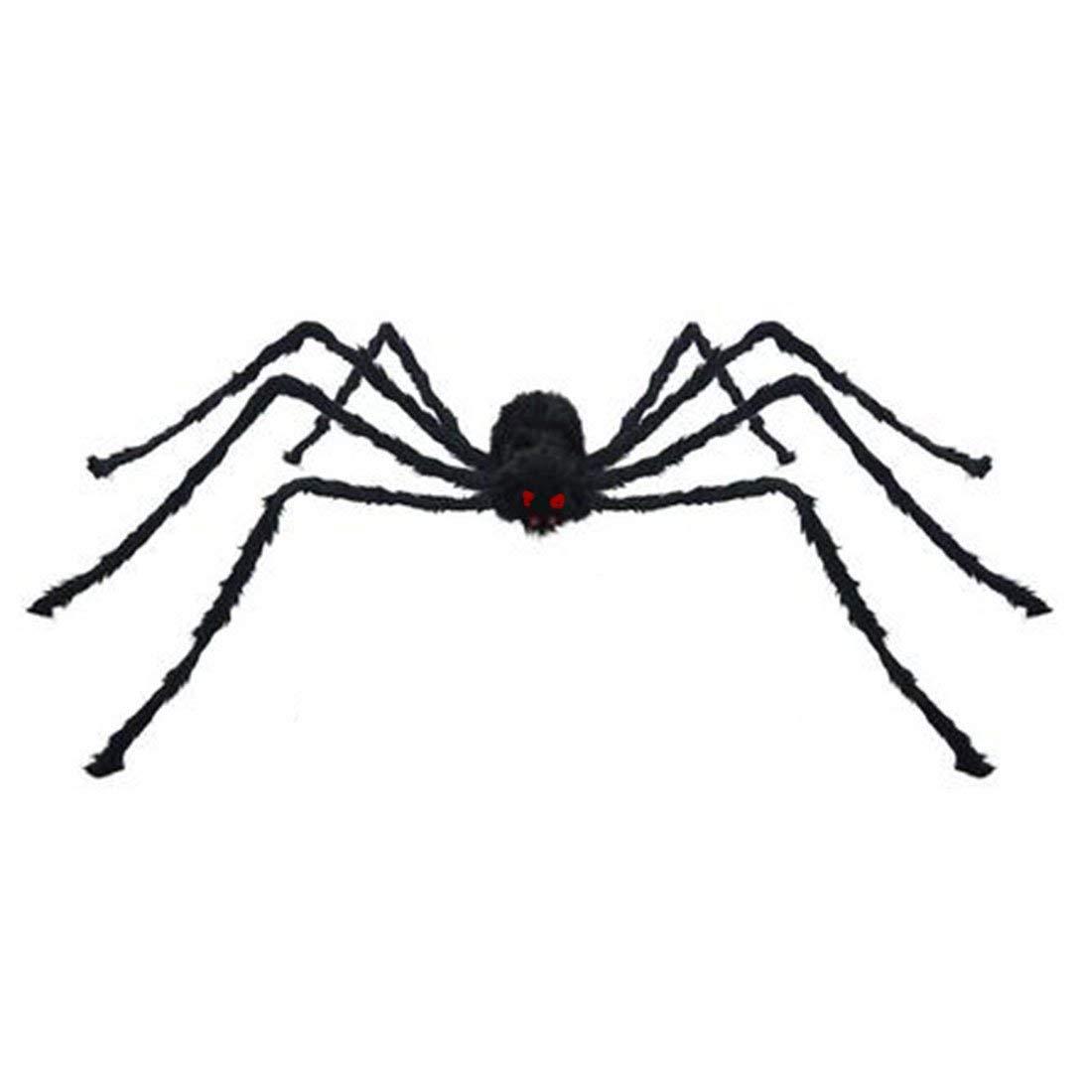 """Little Chair 11""""(30cm)/19""""(50cm)/29""""(75cm)/35""""(90cm)/49""""(125cm) Plush Black Spiders Halloween Home Party Decoration Toys (79""""(200cm))"""