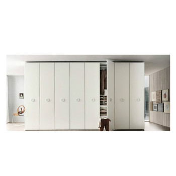 Modern Design Bedroom Furniture Wardrobe Swing Opening 2 Door With White Lacquer
