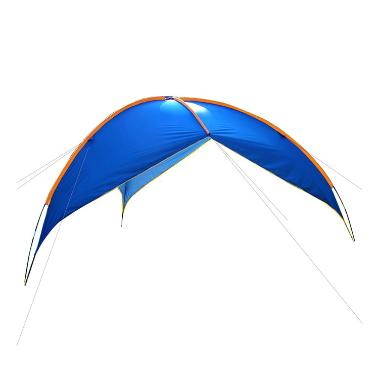 large Summer Outdoor Wave rod Waterproof Triangle camping Awnings multiplayer picnic tent family folding beach Sun Shade tent