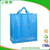 ISO/BSCI Lamination & luxury pp woven shopping bag colorful handbag