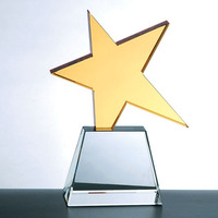 Shining Dancing Star Crystal Trophy For Teacher Award Gift