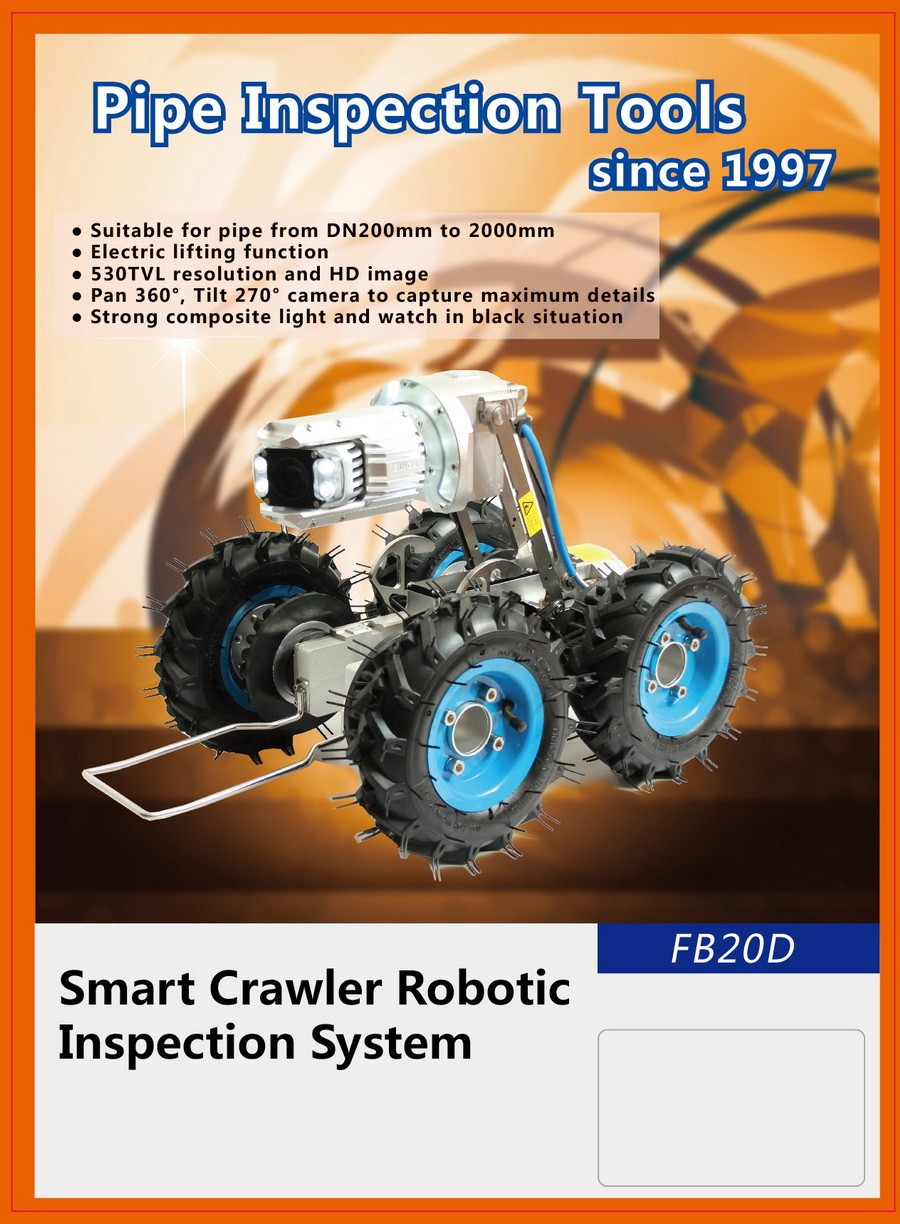 Fb20d 2018new Drill /water / Sewer / Crawler Pipe Inspection Robot Camera  System - Buy Cctv Pipe Inspection Camera System,Pipe Inspection Robot,Pipe