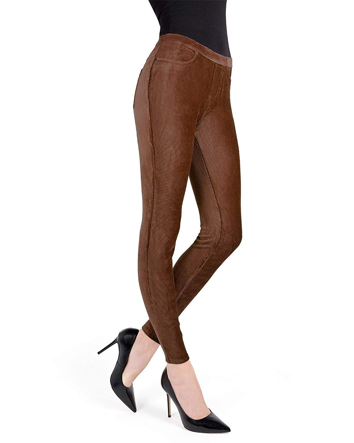 1f77e16d4f00ac Get Quotations · MeMoi Thin-Rib Stretch Corduroy Leggings | Women's Premium  Leggings