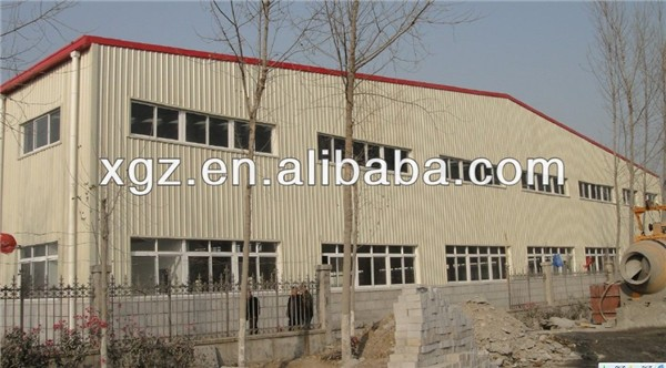 Industrial light prefabricated steel warehouse shed