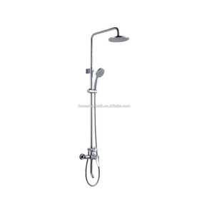 Bath Faucet With Slide Bar Polished Chrome Wall Mounted Shower Faucet