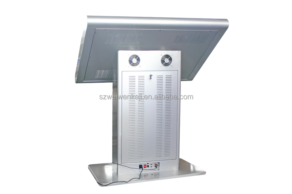 high quality floor stand lcd touch screen built in media kiosk player