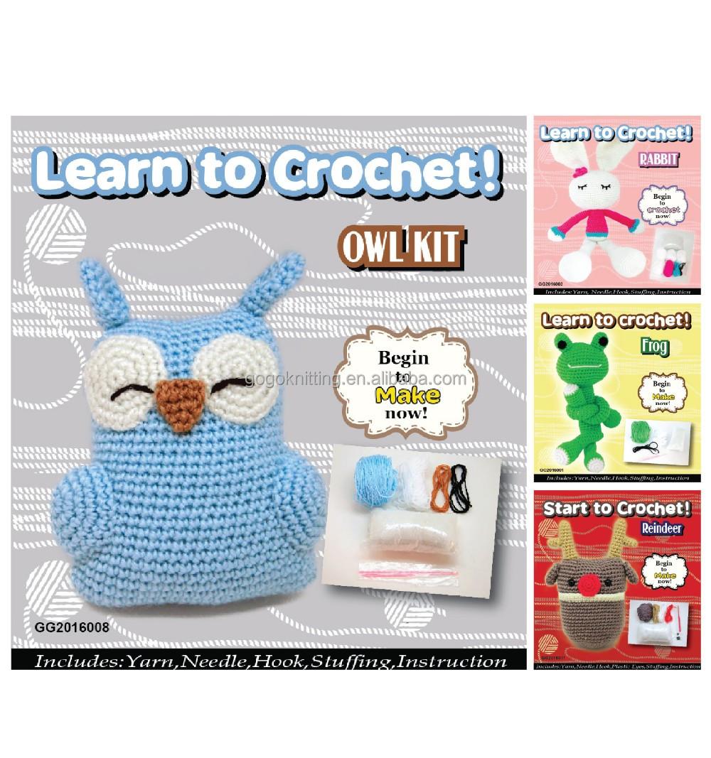 lovely wool owl crochet diy kit