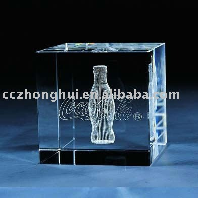 Crystal cube,crystal printing,printing paperweight for wedding souvenior