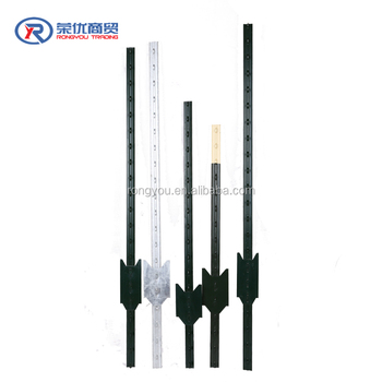 6ft 10ft Length Galvanized Rail Steel T Post For Sale