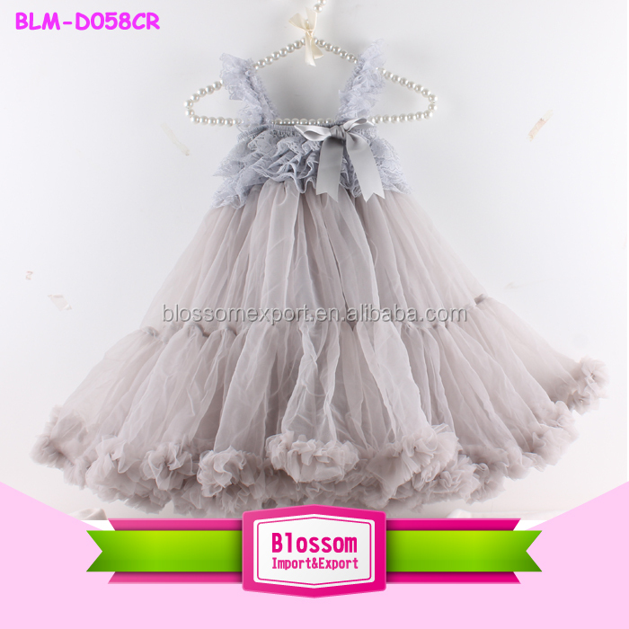 Toddler Baby Girls High Low Dress Long Sleeve Party Kids Dress Princess Custume