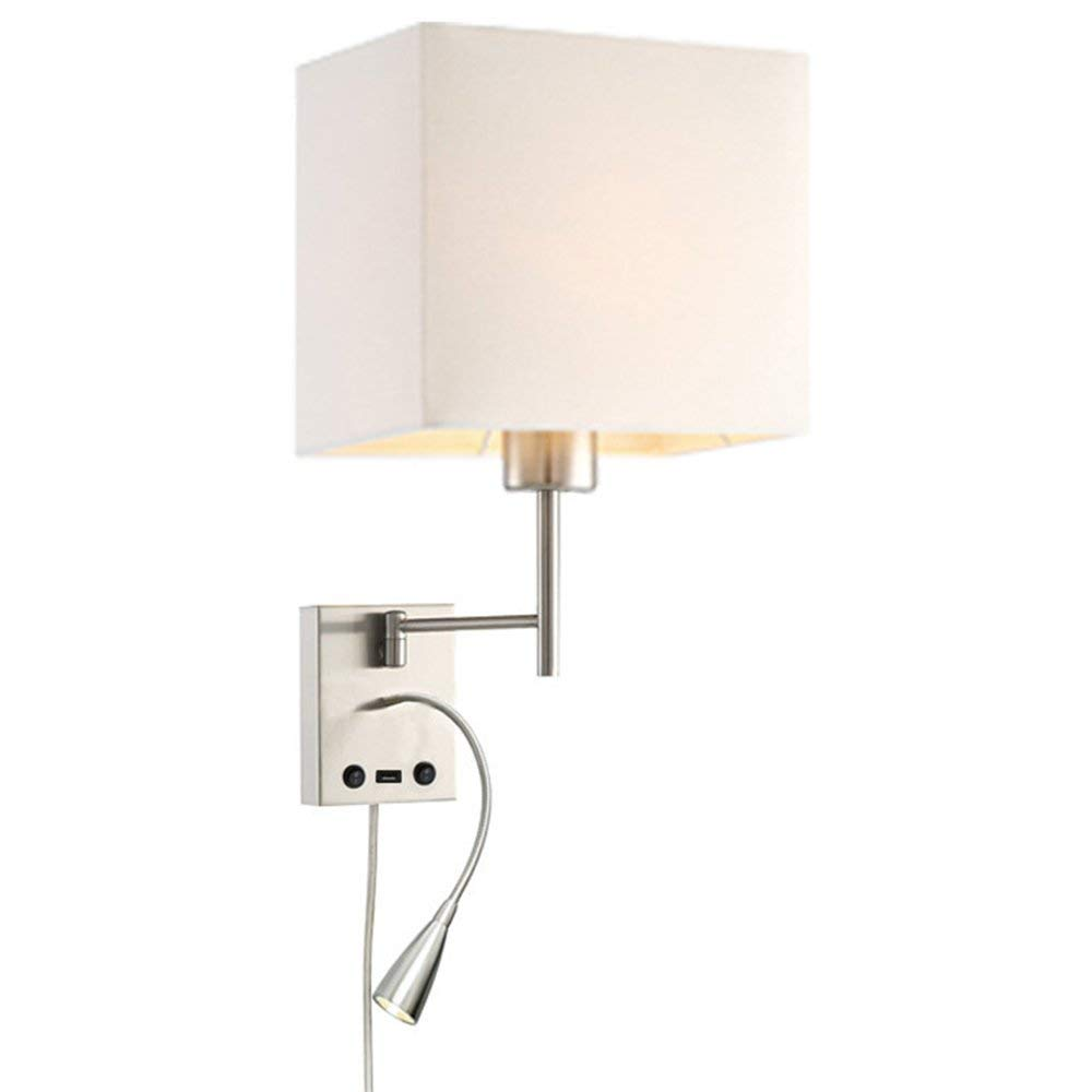 Get Quotations Homefocus Usb Led Swing Arm Bedside Reading Wall Lamp Light