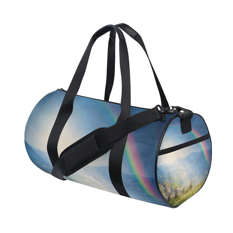 ceca527d5e50 Get Quotations · ALIREA Rainbow Duffle bag Shoulder Handy Sports Gym Bags  for Men and Women