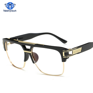 Wholesale Top quality men sunglasses 2017 brand design big square semi rimless sun glasses men luxury unisex UV occhiali da sole