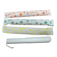 Eco friendly organic cotton cardboard applicator tampons