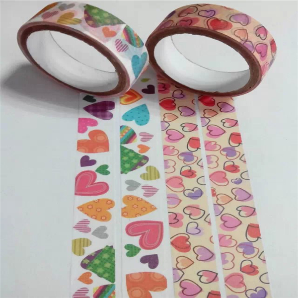 Individueller Druck dekoratives Washi Scrapbooking Tape