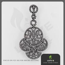 Christian Products Wholesale Rhodium Plated 925 Italian Silver Charm Pendant