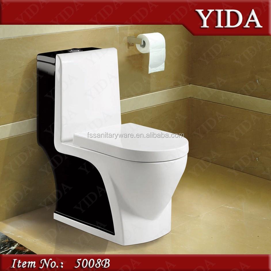 Entwässerung Von Waschbecken Und Wc: Rot Toilettenschüssel, Bad Toiletten Einem Stück Wcs