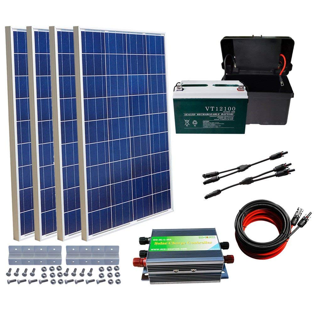 Cheap Vrla 12v100ah Solar Battery Find Details About 12 Volt Circuit Panel Charger Rv 12v Kit Get Quotations Eco Worthy 400w Off Grid System 4 X 100w 100ah