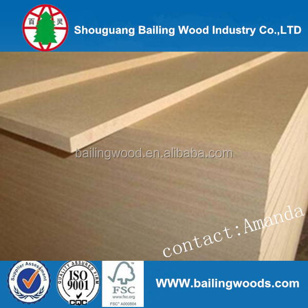 Good quality melamine HDF /MDF for making doors