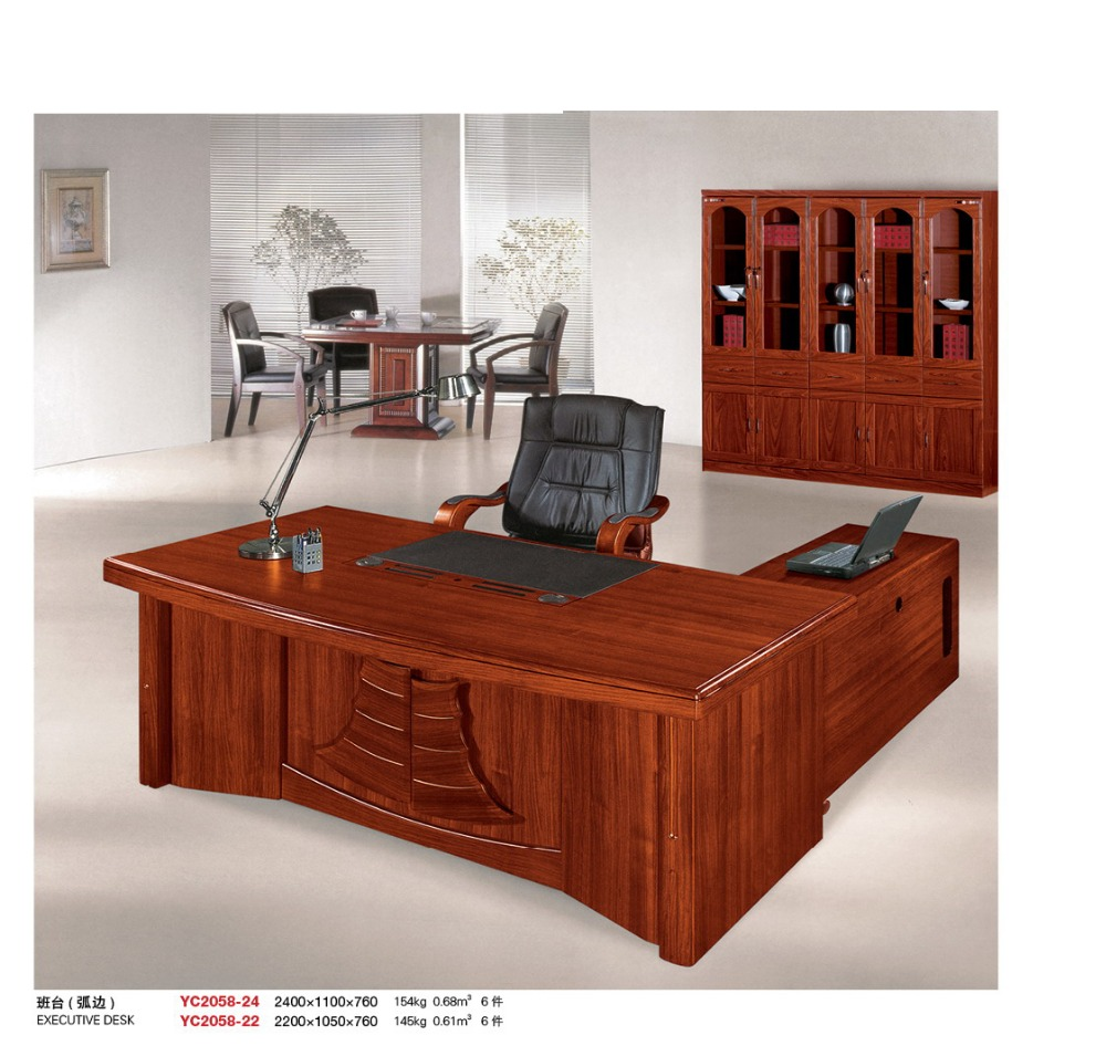 Aspenhome Warm Cherry Executive Modular Home Office: Hot Sell Hdf Wood Office Furniture Front Desk Factory Sell