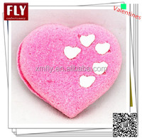Valentine's pink heart shaped marshmallow cake