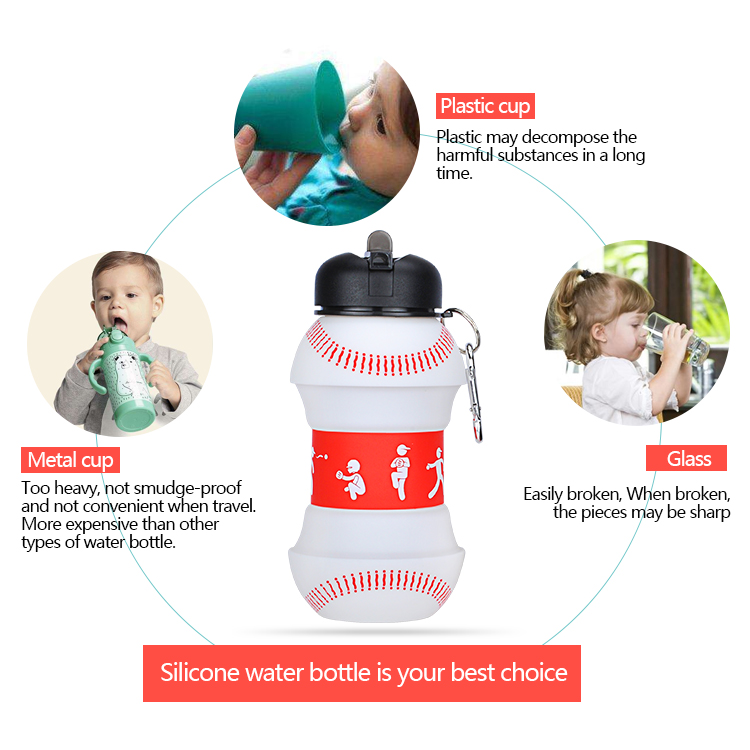 Popular Design Recycled Collapsible Water Bottle With New Shape