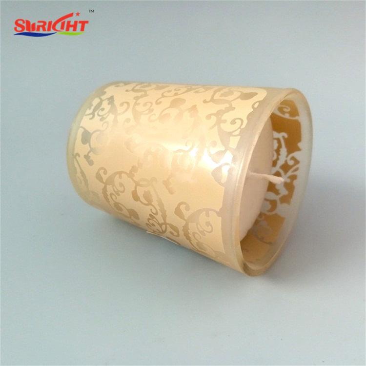 Soy Wax Printing Pray Use Votive Glass Jar Cheap Candle Wholesaler