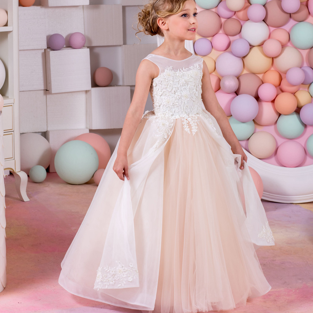 362b9db2431 Kids Party Dresses Baby Girls Dresses For Weddings Gown Designs evening  dress for children