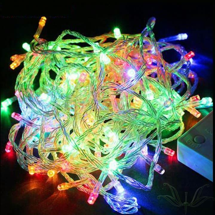 Multicolour Color 10M EU Plug 220V100 LED String Light Holiday Halloween Christmas Lights Wedding Decoration Lamp 50SJM