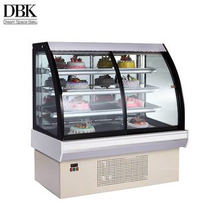 Factory price luxury appearance 4 layers refrigerator fan cooling small cake display chiller