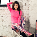 New Fall Women Yoga Sets Breathable Fitness Sports Suit Ladies Sportswear Running Workout Clothes Tops Shirts