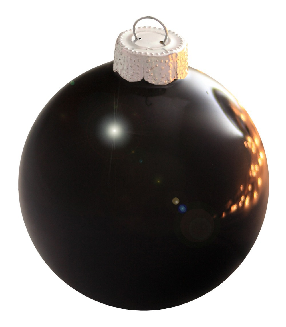 get quotations free shipping event party bauble ornaments christmas xmas tree glass balls decoration 80mm black ball ornament