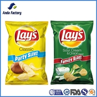 Anti-Moisture Food Grade Plantain Chips Plastic Packaging Bag