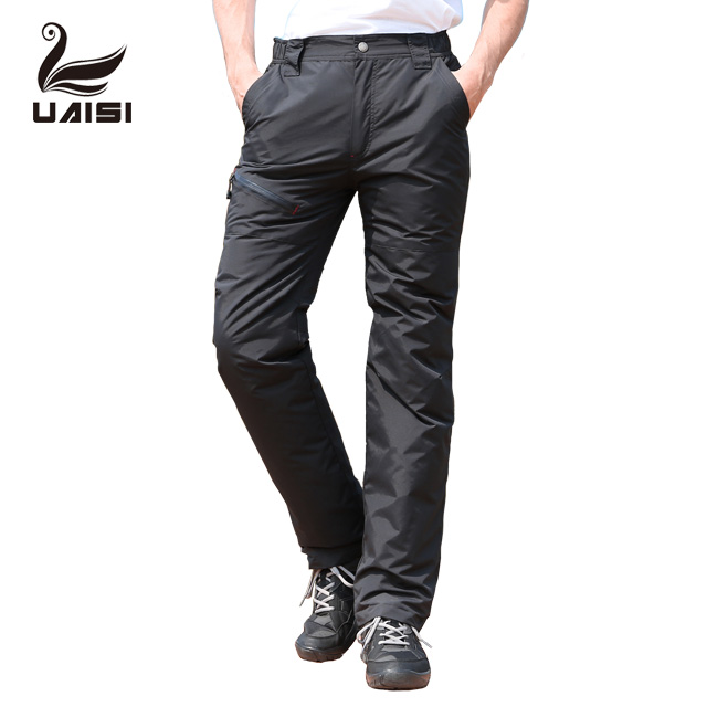 Mannen Winter Pant Slim fit Wit Ganzendons Pant