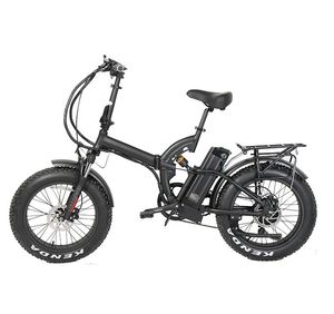 bafang 36v 250w 48v 500w 750w 10.4 ah Samsung cells lithium battery powered fat tire full suspension folding electric bike