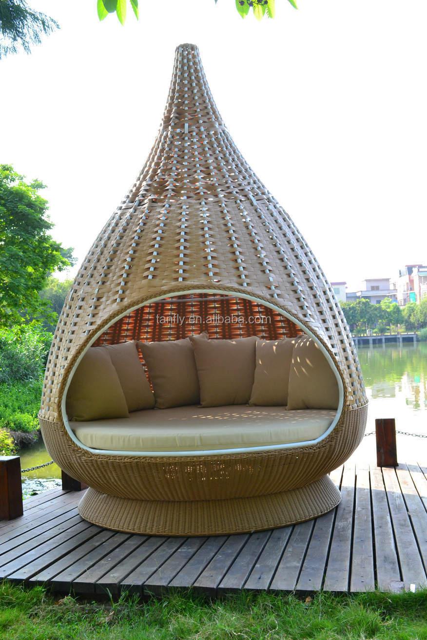 Hanging wicker bed - Rattan Nestrest With Outdoor Woven Wicker Water Drop Nest