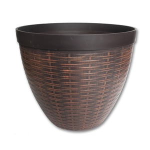 durable pp plastic rattan wicker flower pots customized colors wholesales / OEM for home and garden