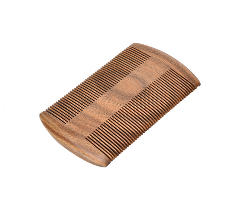 Customized Logo highest quality wood double sided sandalwood beard wooden comb