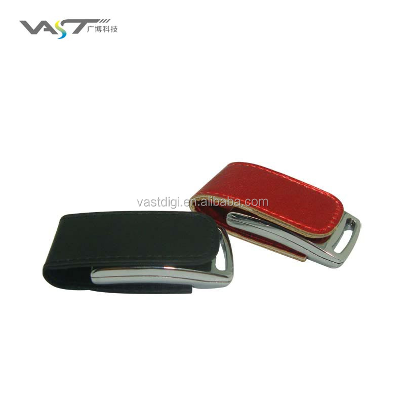 VDL-014 Custom high speed factory price flip leather usb flash memory