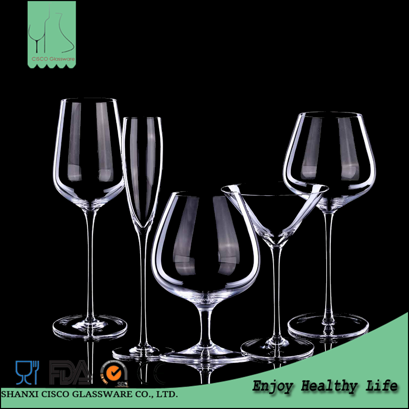 Cisco 2017 Hot New Design Custom RWG364 Wholesale Lead-free Crystal Drinking Glass