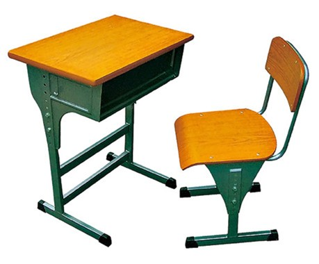Cheap School Furniture Single Student Desk And Chair Set