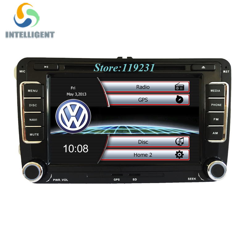 2 din car dvd player gps radio stereo for vw golf 4 golf 5. Black Bedroom Furniture Sets. Home Design Ideas