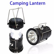 Express Ali Double Lights Rechargeable Folding Solar LED Camping Light Lamp