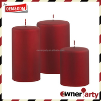Customized Wholesale Eco Friendly Red Pillar Candles